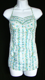vintage 1950's bathing suit turquoise