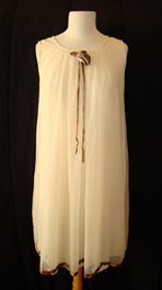 cream vintage 1960's babydoll nightgown