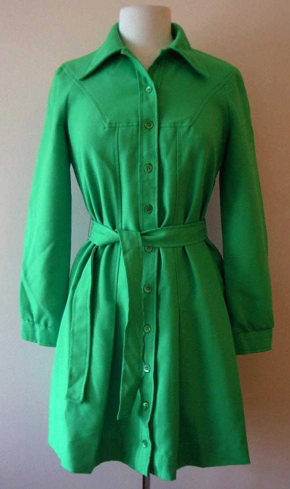 proper vintage clothing green 1970 s dress vintage dresses