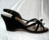 vintage 1940's wedge shoes