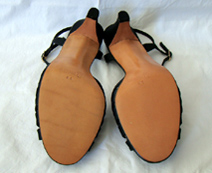 bottoms of 70s shoes