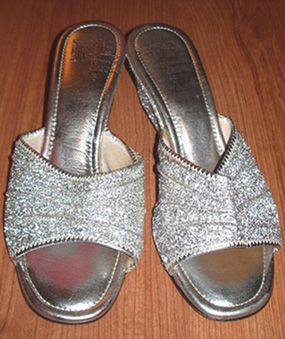 vintage 1970's silver shoes