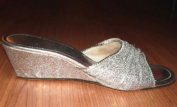 vintage silver 70's shoes